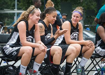 Christine Harnischfeger, Jasmine Jones, Kerri White West 4th Street Women's Pro Classic NYC: Down the Hatch (Black) 69 v Crossover (White) 36, William F. Passannante Ballfield, New York, NY, July 14, 2012