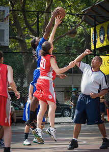 Laurence Mathieu-Leger, Terry Green West 4th Street Women's Pro Classic NYC: Lady Soldiers (Blue) 106 v Ball 4 Life (Red) 62, William F. Passannante Ballfield, New York, NY, July 14, 2012