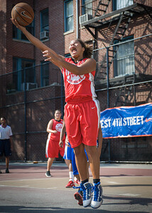 West 4th Street Women's Pro Classic NYC: Lady Soldiers (Blue) 106 v Ball 4 Life (Red) 62, William F. Passannante Ballfield, New York, NY, July 14, 2012