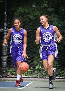"Ariel Smith, Thanzina Cook West 4th Street Women's Pro Classic NYC: Run N Shoot (Purple) 79 v Impulse (Navy) 49, ""The Cage"", New York, NY, July 15, 2012"