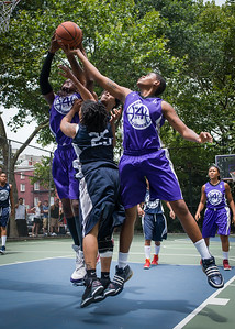 "Jonyce Hollins, Micki Younger, Michele Smith West 4th Street Women's Pro Classic NYC: Run N Shoot (Purple) 79 v Impulse (Navy) 49, ""The Cage"", New York, NY, July 15, 2012"