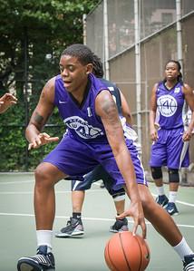 "Jonyce Hollins  West 4th Street Women's Pro Classic NYC: Run N Shoot (Purple) 79 v Impulse (Navy) 49, ""The Cage"", New York, NY, July 15, 2012"