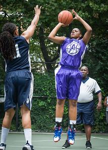 "Dawn Coleman, Nadia Duncan West 4th Street Women's Pro Classic NYC: Run N Shoot (Purple) 79 v Impulse (Navy) 49, ""The Cage"", New York, NY, July 15, 2012"