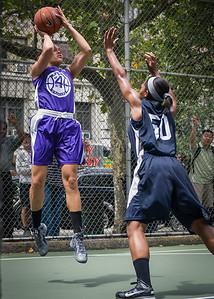 "Thanzina Cook, Briana Brown West 4th Street Women's Pro Classic NYC: Run N Shoot (Purple) 79 v Impulse (Navy) 49, ""The Cage"", New York, NY, July 15, 2012"