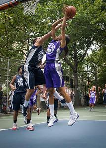 "Jewel Adams, Nadia Duncan West 4th Street Women's Pro Classic NYC: Run N Shoot (Purple) 79 v Impulse (Navy) 49, ""The Cage"", New York, NY, July 15, 2012"