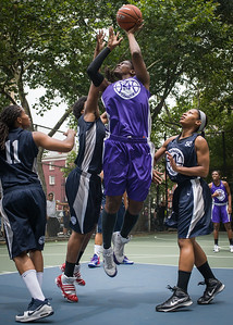 """Micki Younger West 4th Street Women's Pro Classic NYC: Run N Shoot (Purple) 79 v Impulse (Navy) 49, """"The Cage"""", New York, NY, July 15, 2012"""