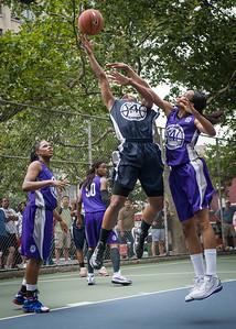 "Briana Brown, Jewel Adams West 4th Street Women's Pro Classic NYC: Run N Shoot (Purple) 79 v Impulse (Navy) 49, ""The Cage"", New York, NY, July 15, 2012"