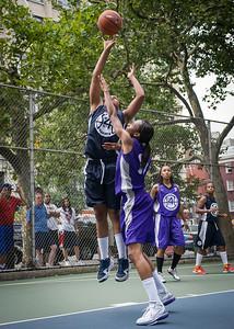 "Nadia Duncan, Jewel Adams West 4th Street Women's Pro Classic NYC: Run N Shoot (Purple) 79 v Impulse (Navy) 49, ""The Cage"", New York, NY, July 15, 2012"