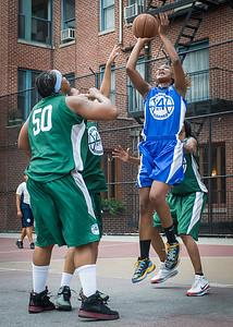 Leeah Thomas, Rachelle Brown West 4th Street Women's Pro Classic NYC: Primetime (Blue) 82 v Quiet Storm (Green) 51, William F. Passannante Ballfield, New York, NY, July 15, 2012