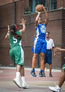 Bianca Brown, Natasha Phillips West 4th Street Women's Pro Classic NYC: Primetime (Blue) 82 v Quiet Storm (Green) 51, William F. Passannante Ballfield, New York, NY, July 15, 2012
