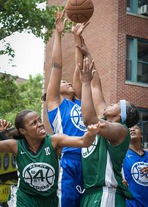 Yolanda Alford, Rachelle Brown West 4th Street Women's Pro Classic NYC: Primetime (Blue) 82 v Quiet Storm (Green) 51, William F. Passannante Ballfield, New York, NY, July 15, 2012