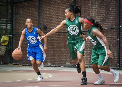Renee Taylor, Ann Barrino, Natasha Phillips West 4th Street Women's Pro Classic NYC: Primetime (Blue) 82 v Quiet Storm (Green) 51, William F. Passannante Ballfield, New York, NY, July 15, 2012