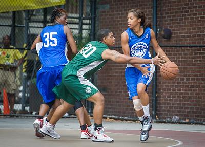 Shemika Stevens, Keir Dargon, Sharlenia Charles West 4th Street Women's Pro Classic NYC: Primetime (Blue) 82 v Quiet Storm (Green) 51, William F. Passannante Ballfield, New York, NY, July 15, 2012