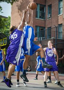 West 4th Street Women's Pro Classic NYC: Lady Soldiers (Blue) 83 v Da Bizznezz (Purple) 54, William F. Passannante Ballfield, New York, NY, July 15, 2012