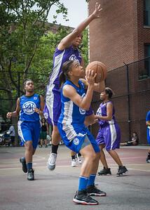 Marika Sprow, CeeCee Rodriguez West 4th Street Women's Pro Classic NYC: Lady Soldiers (Blue) 83 v Da Bizznezz (Purple) 54, William F. Passannante Ballfield, New York, NY, July 15, 2012