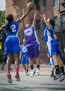 Shonda Hawthorne, Terry Green West 4th Street Women's Pro Classic NYC: Lady Soldiers (Blue) 83 v Da Bizznezz (Purple) 54, William F. Passannante Ballfield, New York, NY, July 15, 2012