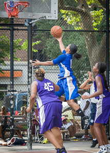 Didi Simmons West 4th Street Women's Pro Classic NYC: Lady Soldiers (Blue) 83 v Da Bizznezz (Purple) 54, William F. Passannante Ballfield, New York, NY, July 15, 2012
