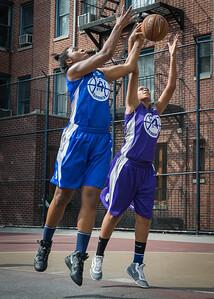 Nubia Hayes, CeeCee Rodriguez West 4th Street Women's Pro Classic NYC: Lady Soldiers (Blue) 83 v Da Bizznezz (Purple) 54, William F. Passannante Ballfield, New York, NY, July 15, 2012