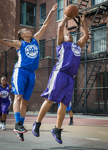 Raygan Plummer, Marika Sprow West 4th Street Women's Pro Classic NYC: Lady Soldiers (Blue) 83 v Da Bizznezz (Purple) 54, William F. Passannante Ballfield, New York, NY, July 15, 2012