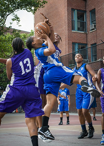 Shonda Hawthorne, Alicea Ulmer West 4th Street Women's Pro Classic NYC: Lady Soldiers (Blue) 83 v Da Bizznezz (Purple) 54, William F. Passannante Ballfield, New York, NY, July 15, 2012