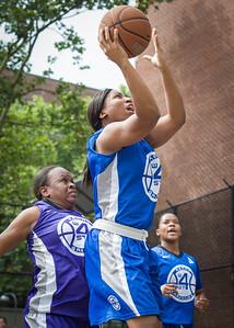 Nadirah McKenith West 4th Street Women's Pro Classic NYC: Lady Soldiers (Blue) 83 v Da Bizznezz (Purple) 54, William F. Passannante Ballfield, New York, NY, July 15, 2012