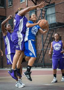 Shonda Hawthorne, Raygan Plummer West 4th Street Women's Pro Classic NYC: Lady Soldiers (Blue) 83 v Da Bizznezz (Purple) 54, William F. Passannante Ballfield, New York, NY, July 15, 2012