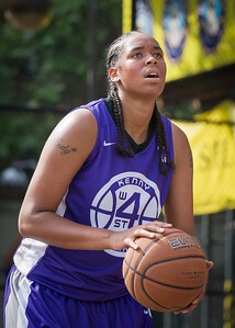 CeeCee Rodriguez West 4th Street Women's Pro Classic NYC: Lady Soldiers (Blue) 83 v Da Bizznezz (Purple) 54, William F. Passannante Ballfield, New York, NY, July 15, 2012