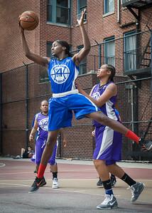 Terry Green West 4th Street Women's Pro Classic NYC: Lady Soldiers (Blue) 83 v Da Bizznezz (Purple) 54, William F. Passannante Ballfield, New York, NY, July 15, 2012