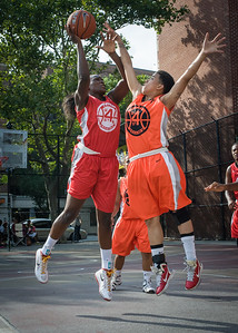 Michelle Campbell, Kassendra Flowers West 4th Street Women's Pro Classic NYC: Big East Ballers (Red) 95 v Lady Ballers (Orange) 62, William F. Passannante Ballfield, New York, NY, July 15, 2012