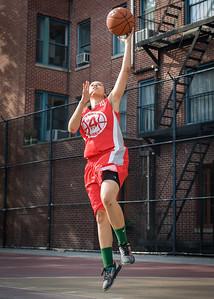 Regina Washington West 4th Street Women's Pro Classic NYC: Big East Ballers (Red) 95 v Lady Ballers (Orange) 62, William F. Passannante Ballfield, New York, NY, July 15, 2012