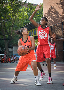 Bria Jackson, Shenneika Smith West 4th Street Women's Pro Classic NYC: Big East Ballers (Red) 95 v Lady Ballers (Orange) 62, William F. Passannante Ballfield, New York, NY, July 15, 2012