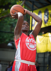 Michelle Campbell West 4th Street Women's Pro Classic NYC: Big East Ballers (Red) 95 v Lady Ballers (Orange) 62, William F. Passannante Ballfield, New York, NY, July 15, 2012