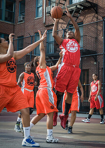 Kellindra Zackery West 4th Street Women's Pro Classic NYC: Big East Ballers (Red) 95 v Lady Ballers (Orange) 62, William F. Passannante Ballfield, New York, NY, July 15, 2012