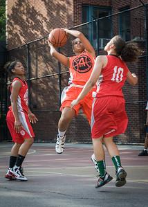Bria Jackson, Regina Washington West 4th Street Women's Pro Classic NYC: Big East Ballers (Red) 95 v Lady Ballers (Orange) 62, William F. Passannante Ballfield, New York, NY, July 15, 2012