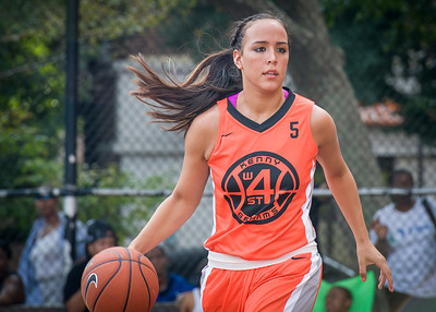 Stephanie Isaacs West 4th Street Women's Pro Classic NYC: Big East Ballers (Red) 95 v Lady Ballers (Orange) 62, William F. Passannante Ballfield, New York, NY, July 15, 2012