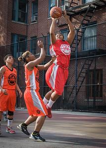 Tasha Cannon, Shenita Urquhart West 4th Street Women's Pro Classic NYC: Big East Ballers (Red) 95 v Lady Ballers (Orange) 62, William F. Passannante Ballfield, New York, NY, July 15, 2012