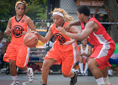 Tasha Cannon West 4th Street Women's Pro Classic NYC: Big East Ballers (Red) 95 v Lady Ballers (Orange) 62, William F. Passannante Ballfield, New York, NY, July 15, 2012