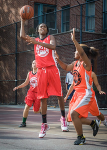 Shenneika Smith West 4th Street Women's Pro Classic NYC: Big East Ballers (Red) 95 v Lady Ballers (Orange) 62, William F. Passannante Ballfield, New York, NY, July 15, 2012