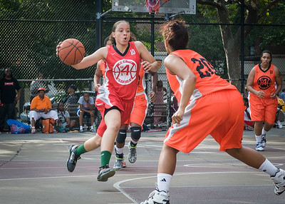 Regina Washington, Bria Jackson West 4th Street Women's Pro Classic NYC: Big East Ballers (Red) 95 v Lady Ballers (Orange) 62, William F. Passannante Ballfield, New York, NY, July 15, 2012