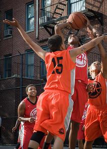 Shenneika Smith, Kassendra Flowers West 4th Street Women's Pro Classic NYC: Big East Ballers (Red) 95 v Lady Ballers (Orange) 62, William F. Passannante Ballfield, New York, NY, July 15, 2012