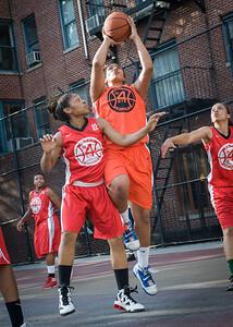 Samantha Gillman, Anika Rivera West 4th Street Women's Pro Classic NYC: Big East Ballers (Red) 95 v Lady Ballers (Orange) 62, William F. Passannante Ballfield, New York, NY, July 15, 2012
