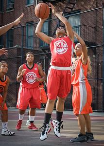 Anika Rivera West 4th Street Women's Pro Classic NYC: Big East Ballers (Red) 95 v Lady Ballers (Orange) 62, William F. Passannante Ballfield, New York, NY, July 15, 2012