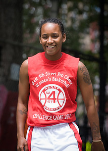 """Renee Taylor West 4th Street Women's Pro Classic NYC: Sports Challenge Semis: Exodus NYC Apache (Green) 84 v Red All Stars 80, """"The Cage"""", New York, NY, July 21, 2012"""
