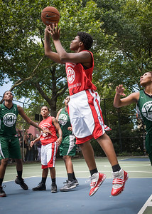 "Janjellica ""JJ"" Johnson West 4th Street Women's Pro Classic NYC: Sports Challenge Semis: Exodus NYC Apache (Green) 84 v Red All Stars 80, ""The Cage"", New York, NY, July 21, 2012"