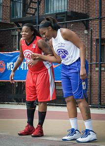 Kellindra Zackery, Jennifer Blanding West 4th Street Women's Pro Classic NYC: Sports Challenge Semis: Big East Ballers (Red) 41 v White All Stars 34, William F. Passannante Ballfield, New York, NY, July 21, 2012