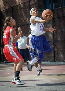 Shorty Reed, Anika Rivera West 4th Street Women's Pro Classic NYC: Sports Challenge Semis: Big East Ballers (Red) 41 v White All Stars 34, William F. Passannante Ballfield, New York, NY, July 21, 2012