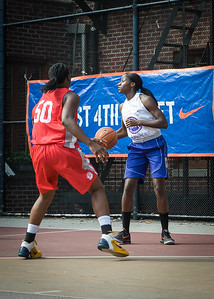 Terry Green, Korinne Campbell West 4th Street Women's Pro Classic NYC: Sports Challenge Semis: Big East Ballers (Red) 41 v White All Stars 34, William F. Passannante Ballfield, New York, NY, July 21, 2012