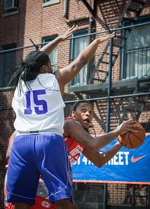 Kellindra Zackery, Rashawna French West 4th Street Women's Pro Classic NYC: Sports Challenge Semis: Big East Ballers (Red) 41 v White All Stars 34, William F. Passannante Ballfield, New York, NY, July 21, 2012