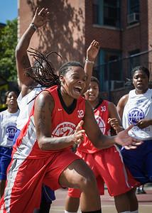 Kellindra Zackery West 4th Street Women's Pro Classic NYC: Sports Challenge Semis: Big East Ballers (Red) 41 v White All Stars 34, William F. Passannante Ballfield, New York, NY, July 21, 2012