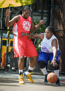 Lawanda Greene, Korinne Campbell West 4th Street Women's Pro Classic NYC: Sports Challenge Semis: Big East Ballers (Red) 41 v White All Stars 34, William F. Passannante Ballfield, New York, NY, July 21, 2012